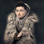 El Greco (1541-1614)  Lady with a Fur  Oil on canvas, 1577-1580  24 3/8 x 20 inches (62 x 51 cm)  Private collection, Glasgow, United Kingdom